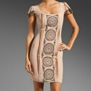 ALICE by Temperley Blush Silk Embroidered Dress 4